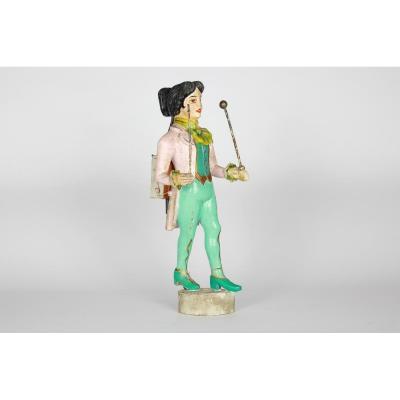 Figure ou Statue d'Orgue Limonaire en bois Debut 20eme