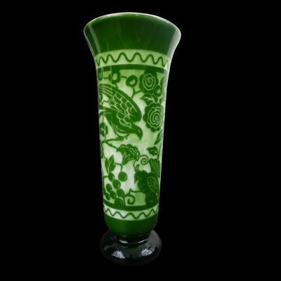 Vase Art Déco Des Cristalleries De Nancy Par Guérycolas