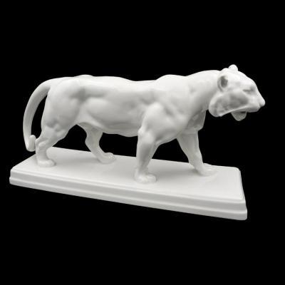 Tigre Art Déco En Porcelaine De KPM Berlin