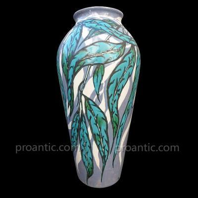 Très Grand Vase En Céramique De Marius Fourmont (1878-1953)