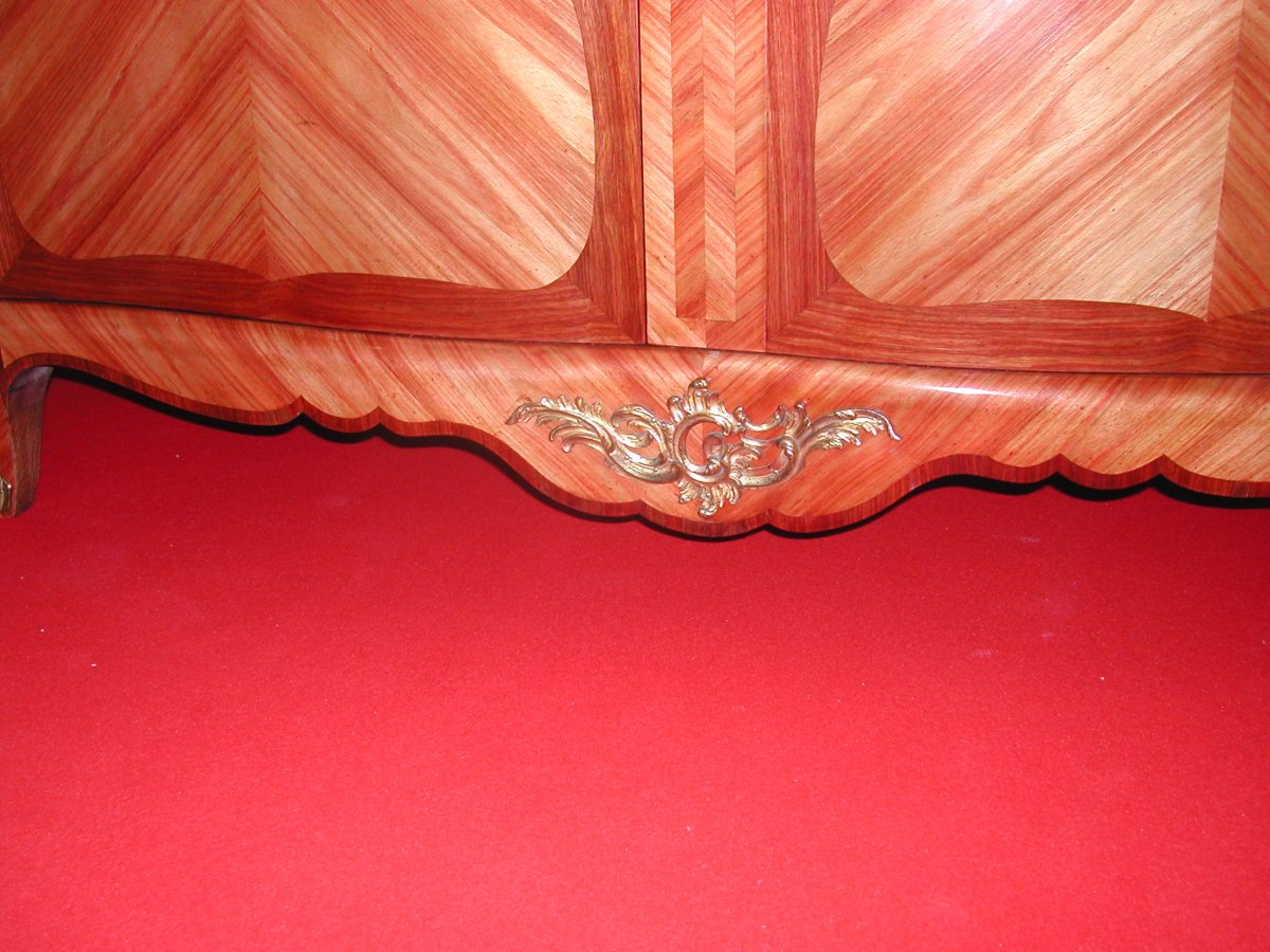 Louis XV Style Cabinet Marquetry-photo-1