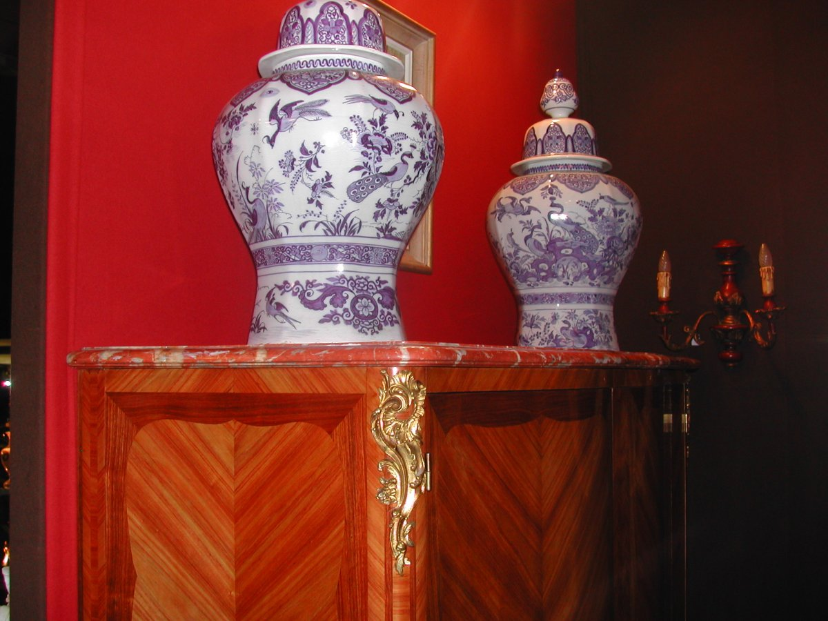 Louis XV Style Cabinet Marquetry-photo-4