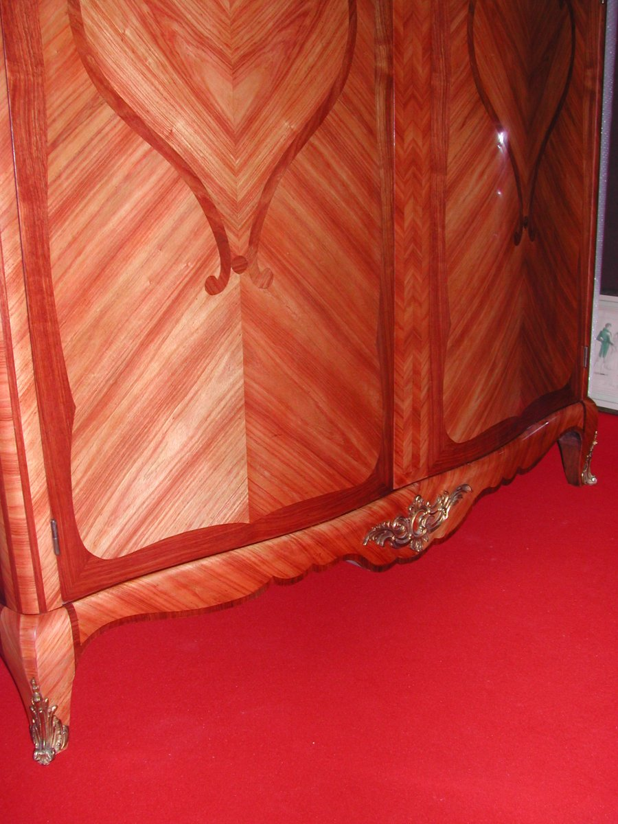 Louis XV Style Cabinet Marquetry-photo-5