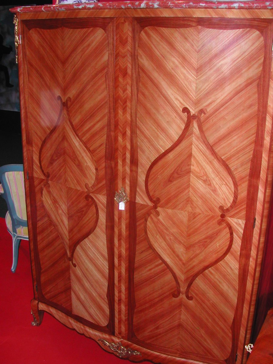 Louis XV Style Cabinet Marquetry-photo-6