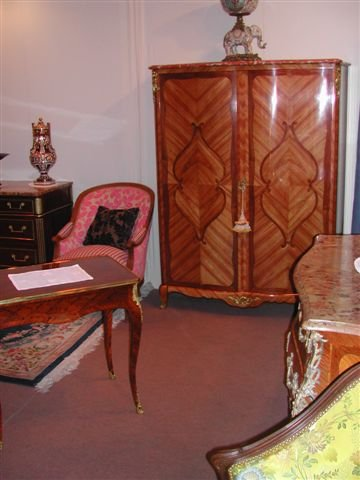 Louis XV Style Cabinet Marquetry