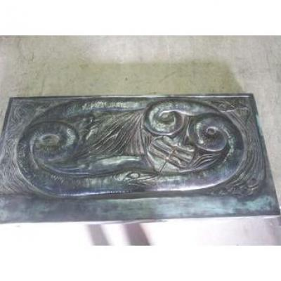 Georges Lacombe Bronze Relief Plate