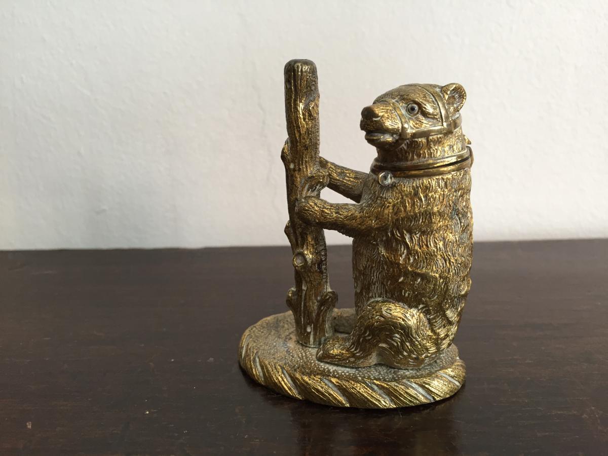 Pyrogène ,bronze,ours XIX
