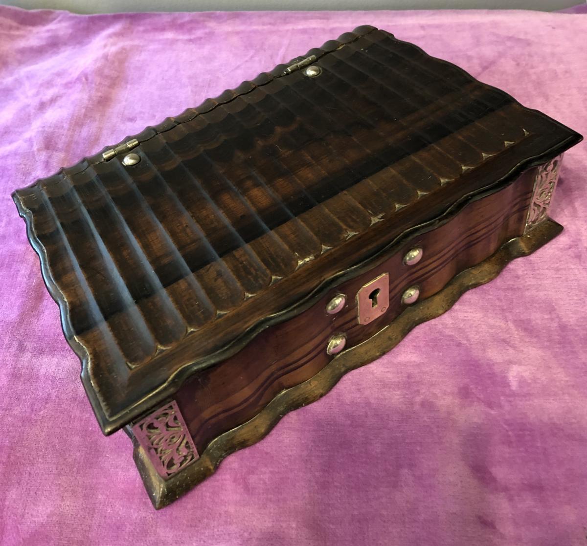 Bible Box, Holland, Wood And Silver XVIII Century