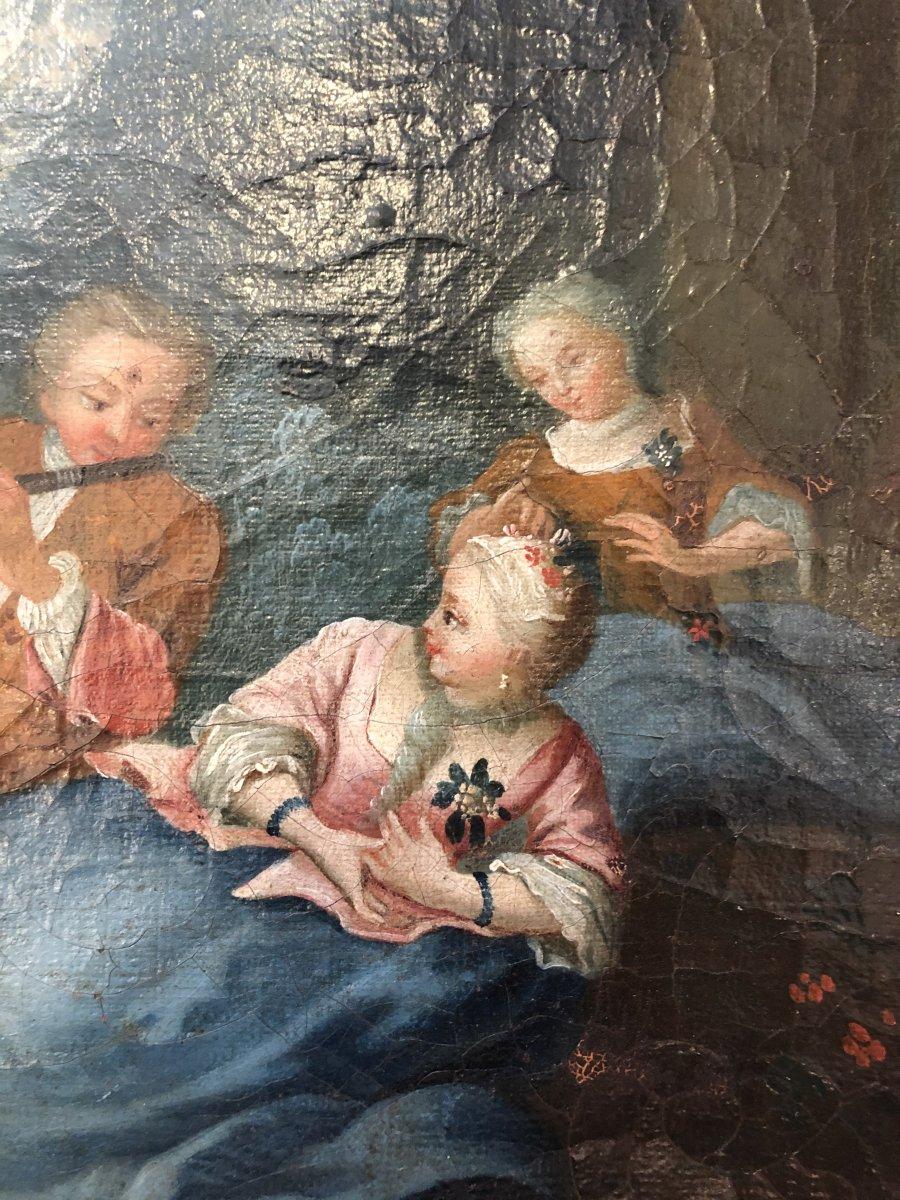 Tableau,huile sur Toile,scène Champêtre,XIXème Siècle -photo-2