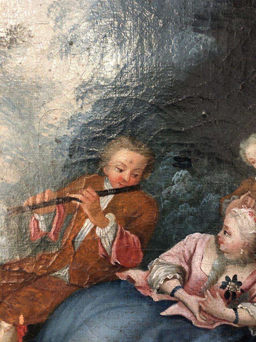 Tableau,huile sur Toile,scène Champêtre,XIXème Siècle -photo-3