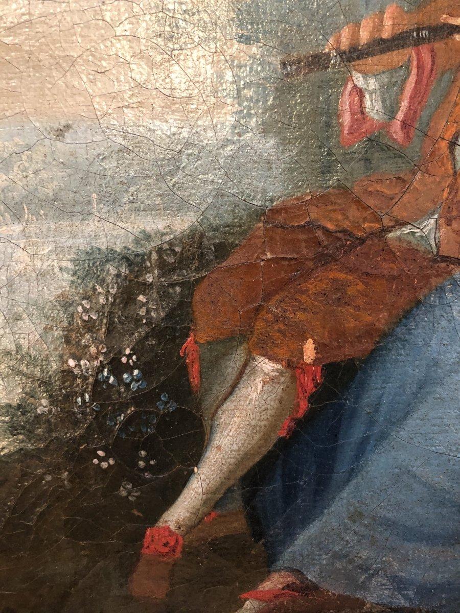 Tableau,huile sur Toile,scène Champêtre,XIXème Siècle -photo-4