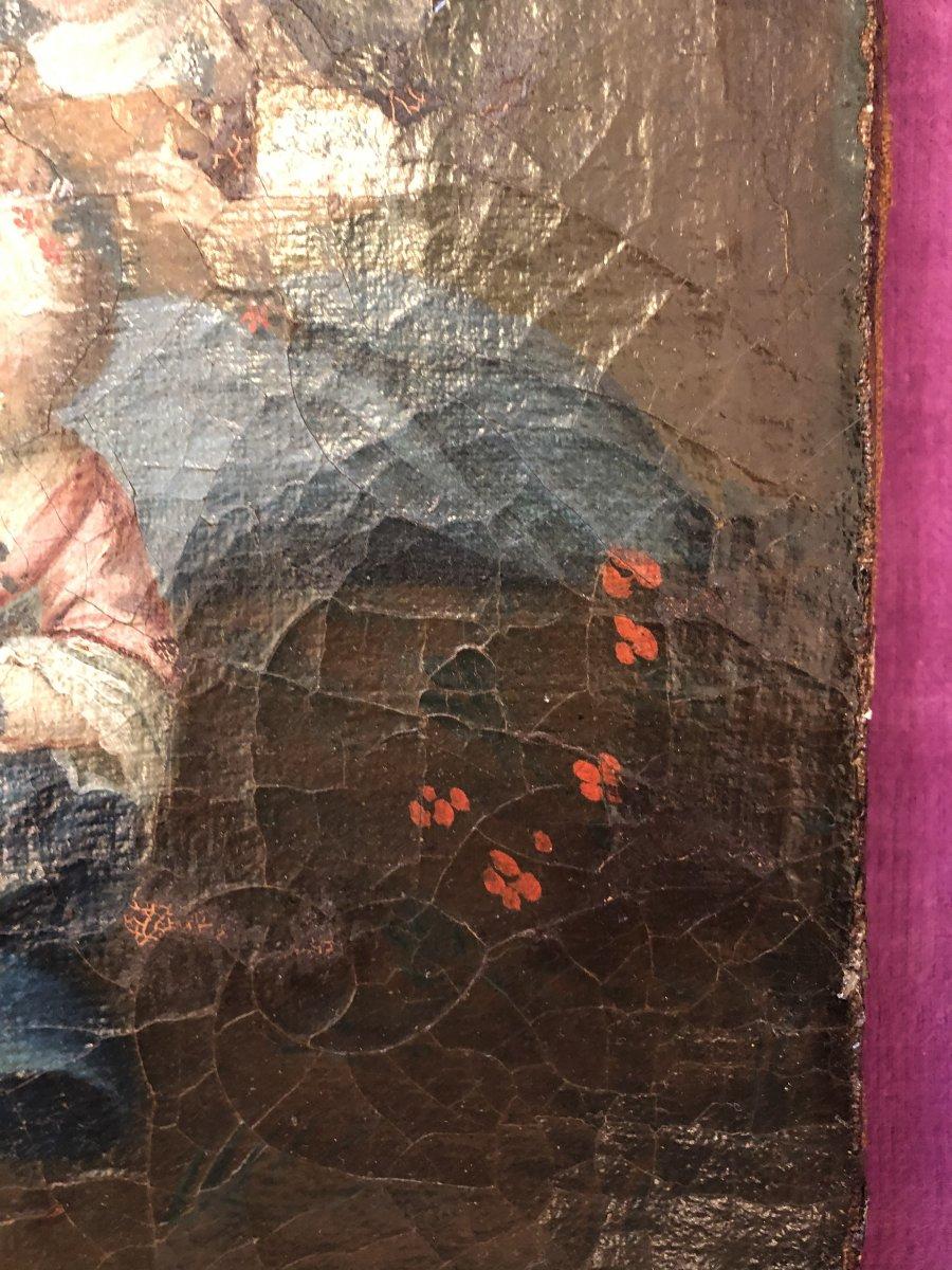 Tableau,huile sur Toile,scène Champêtre,XIXème Siècle -photo-1