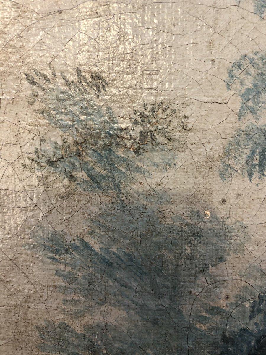 Tableau,huile sur Toile,scène Champêtre,XIXème Siècle -photo-6