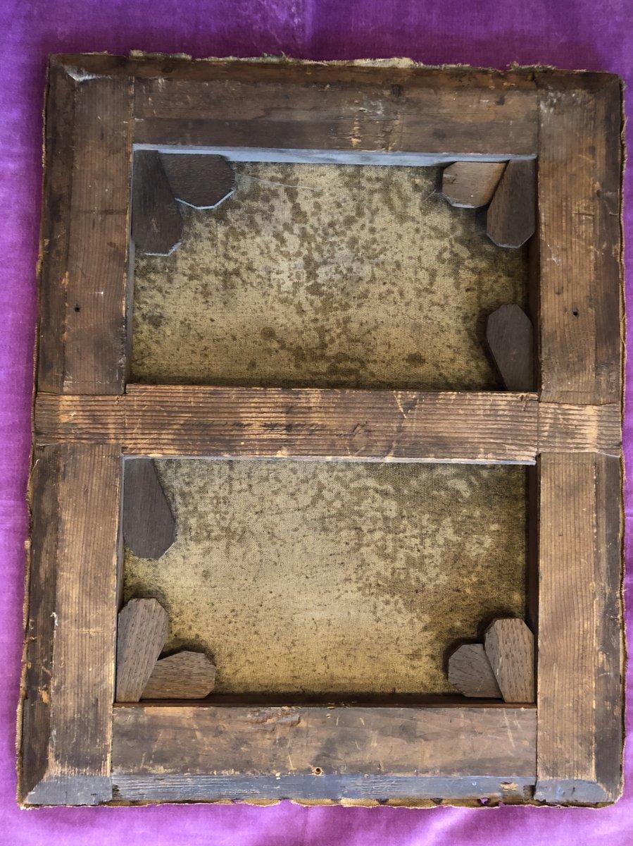 Tableau,huile sur Toile,scène Champêtre,XIXème Siècle -photo-7