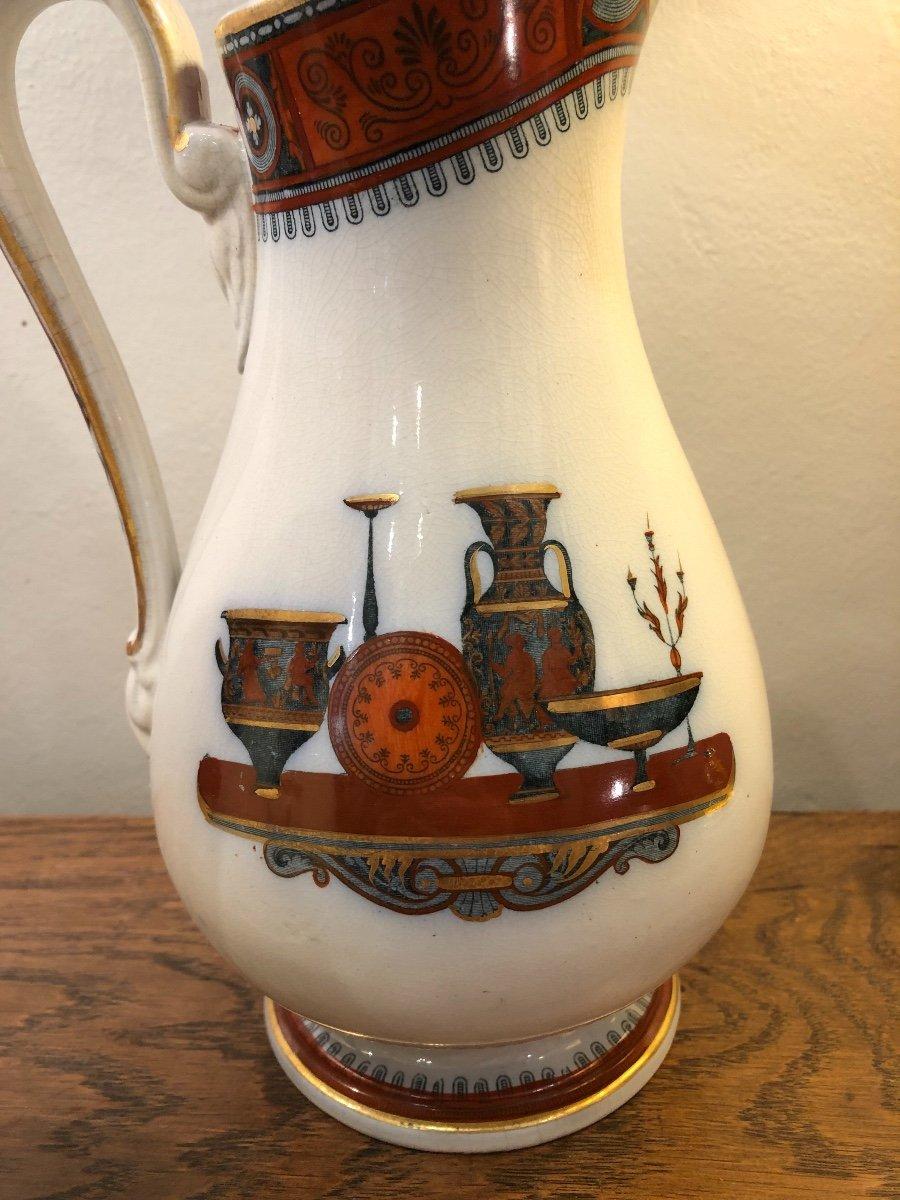Paire de Pichets,Staffordshire,porcelaine, XIXème Siècle -photo-2