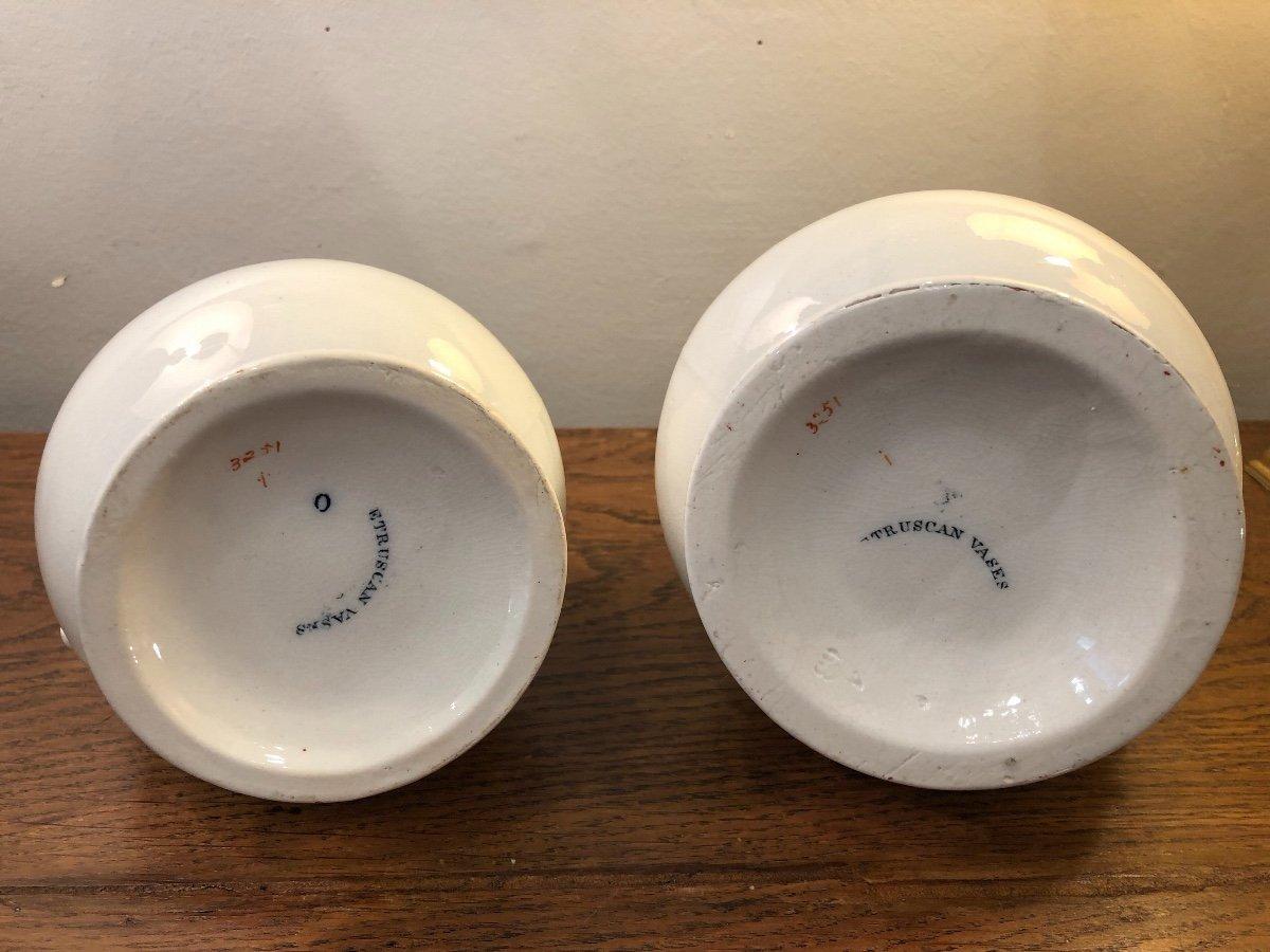 Paire de Pichets,Staffordshire,porcelaine, XIXème Siècle -photo-7