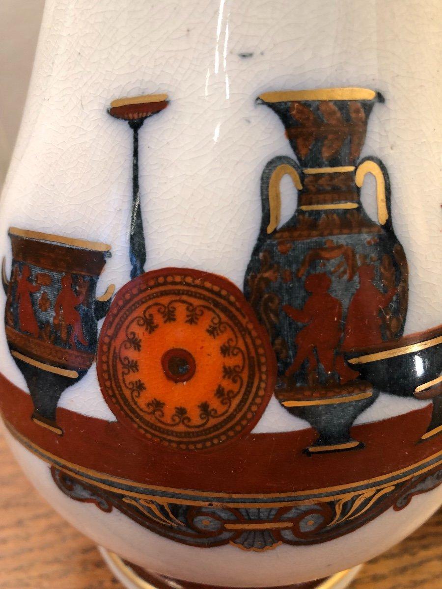 Paire de Pichets,Staffordshire,porcelaine, XIXème Siècle -photo-8