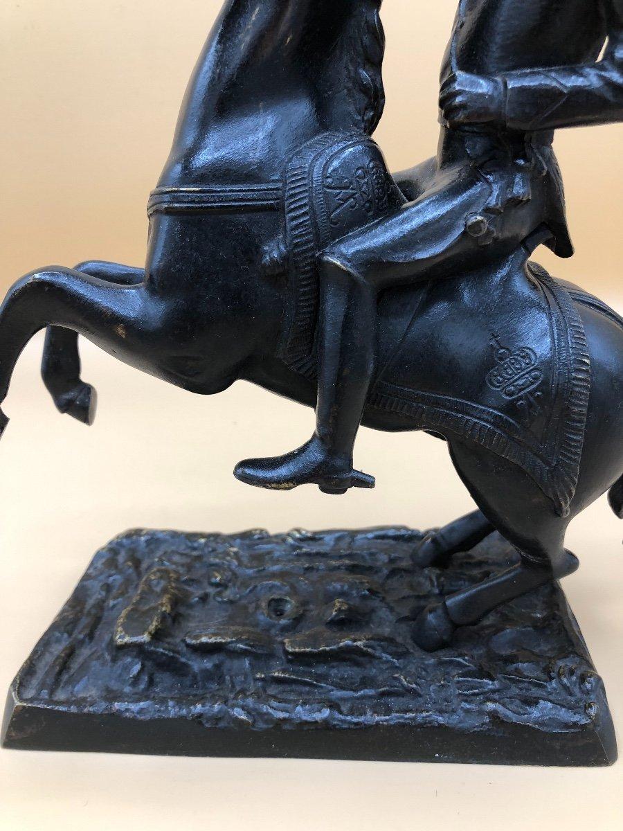 Sculpture en Bronze,militaire à Cheval,XIXème Siècle -photo-2