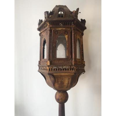 Lanterne Vénitienne Tôle Dorée XIX
