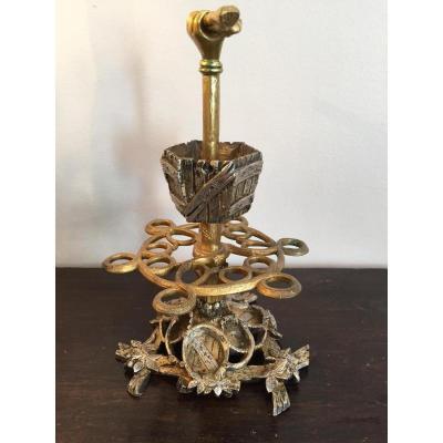 Napoleon III Pipes Holder, Bronze