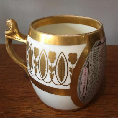 Tasse En Porcelaine,DAGOTY,XIXème Siecle.