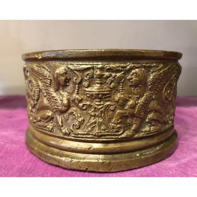 Encrier En Bronze,Renaissance,XVIème Siècle