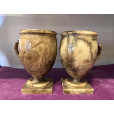 Paire de coupes,vases,Grand Tour,XIX ème siècle