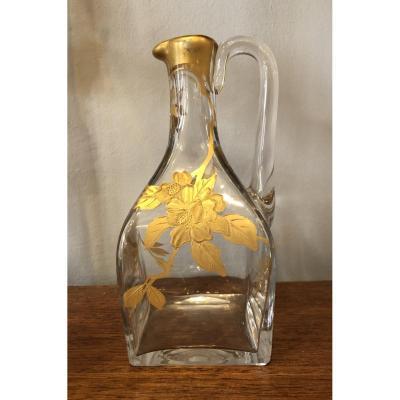 Carafe,pichet Cristal doré  à L' or vers 1900