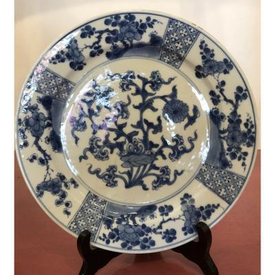 Assiette Faïence,Chine,début XIXème Siècle