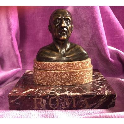 Buste Bronze,empereur,Grand Tour,ROME,XIXème Siècle