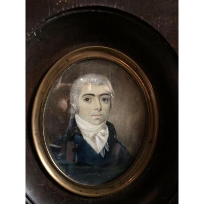 Miniature ,Portrait,XIX ème siècle