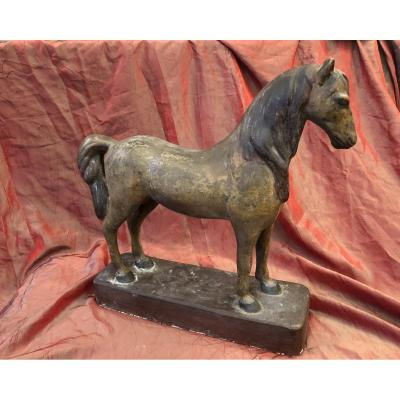 Horse Sculpture, Plaster, Late 19th Century, Early 20th Century