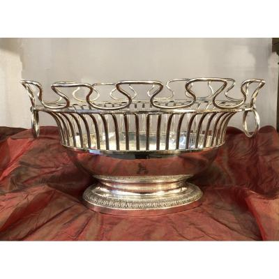 Cooler, Glass Roof, Silver Metal, XX Th Century
