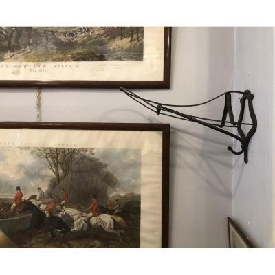 Wall Mounted Saddle Rack, Cast Iron, England, Circa 1900