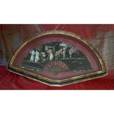 Painted Fan, Quadrille, Spain, XIXth Century