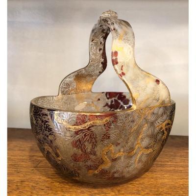 Vase, Cup, De Clichy Crystal, Early 20th Century