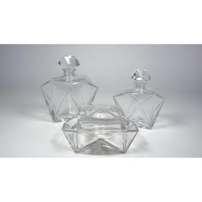 Baccarat Crystal Toilet Elements Vigée Lebrun Model