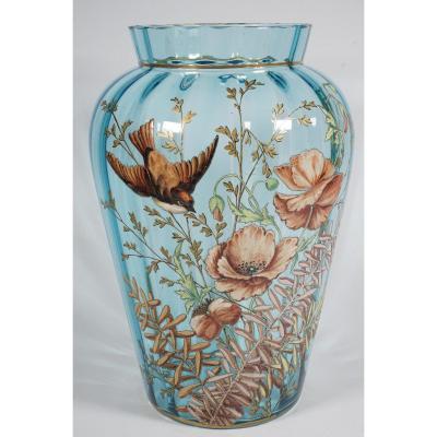 Enamelled Vase Circa 1900