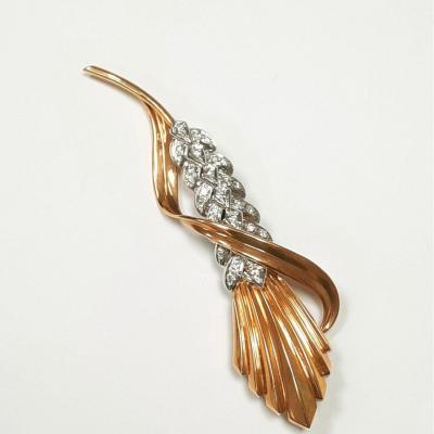Broche 18kt. Bicolor  & Diamants