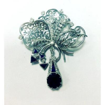 Vintage Broche Pt. Diamant  Année 1960