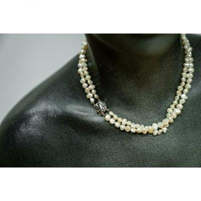 Natural Pearl Necklace 2 Freshwater Rans