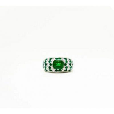 Ring Emerald & Diamond