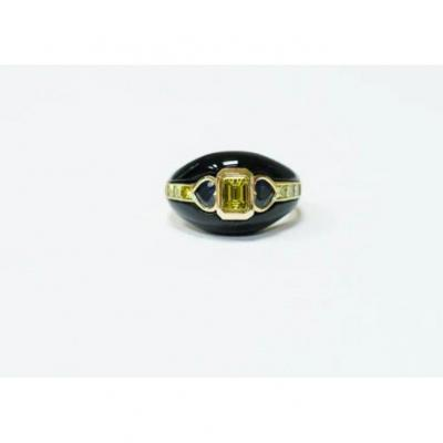 Ring 18kt. Yellow Gold & Onyx