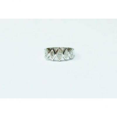 Ring White Gold Marquise