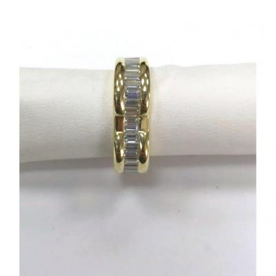Yellow Gold Ring With Baguettes