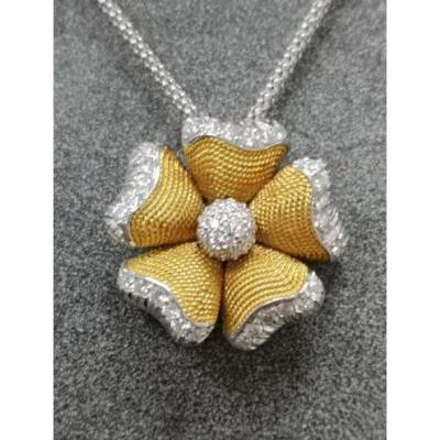 Pendant Flower  & Diamond