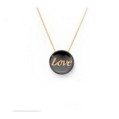 Pendentif love Or Rose & Or Noir