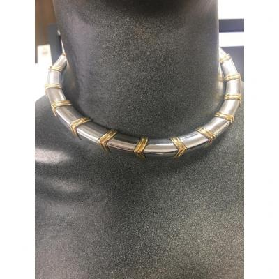Necklace 18kt Gold & Silver