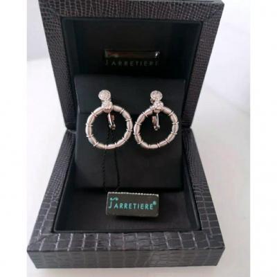 Boucle d'Oreille Or Blanc & Diamant