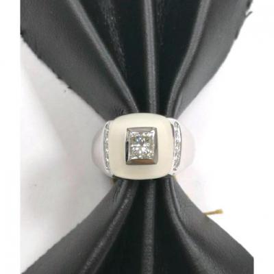 Bague De Crystal De Roche & Diamant